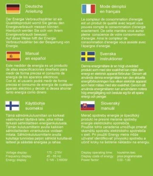 EcoSavers Memory Energy Power Meter GorillaSpoke for Free P/&P to EU /& UK!